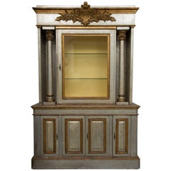 Silver and Parcel-Gilt Italian Cabinet