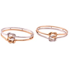 Silver and Silver Gilt Heracles Love Knot Bracelets