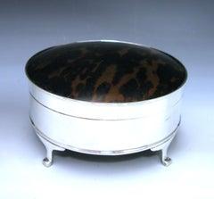 Silver and tortoiseshell jewellery/trinket box