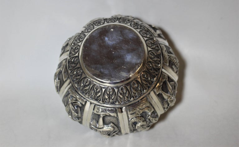 Silver Anglo-Indian Bowl with Figures For Sale 4