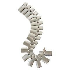 "Silver ""Archive"" Link Bracelet by Ibe Dahlquist for Georg Jensen, Denmark, 1960s"