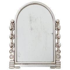 Silver Art Deco Giltwood Mirror, 1930s
