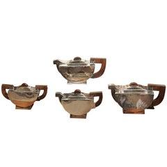 Silver Art Deco Tea Set, circa 1930