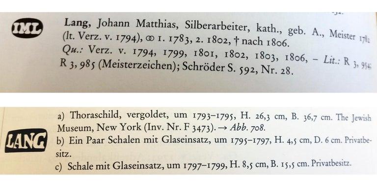 Silver Augsburg Empire Huilière Spice Set Master Johann Matthias Lang Made, 1802 For Sale 6