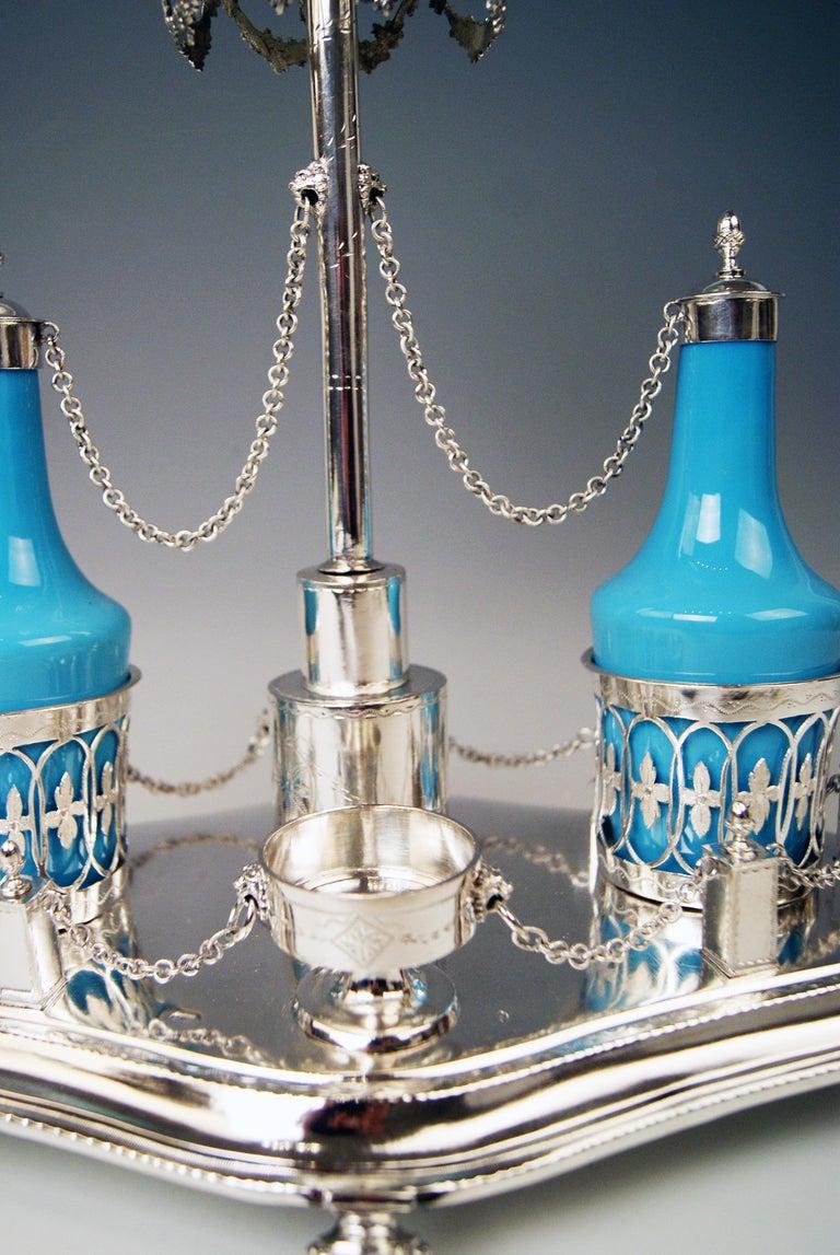 German Silver Augsburg Empire Huilière Spice Set Master Johann Matthias Lang Made, 1802 For Sale