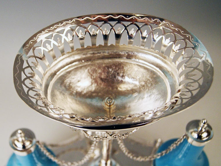 Early 19th Century Silver Augsburg Empire Huilière Spice Set Master Johann Matthias Lang Made, 1802 For Sale