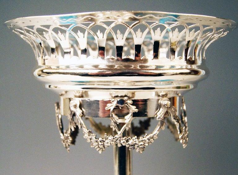Silver Augsburg Empire Huilière Spice Set Master Johann Matthias Lang Made, 1802 For Sale 1