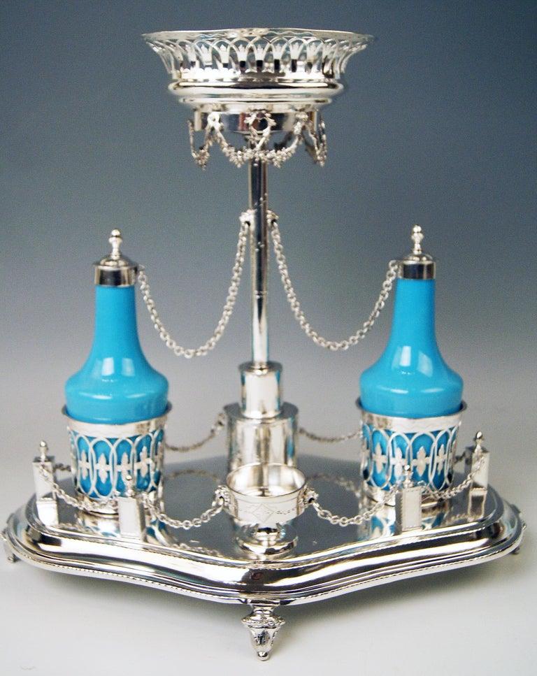 Silver Augsburg Empire Huilière Spice Set Master Johann Matthias Lang Made, 1802 For Sale 4