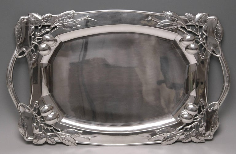 Austrian silver excellent huge serving platter Vienna