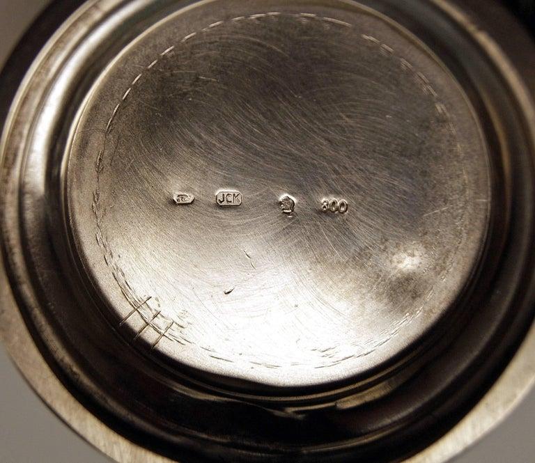 Silver Austria Vienna Coffee Pot Milk Pot Sugar Bowl Creamer Klinkosch 1922-1925 For Sale 1