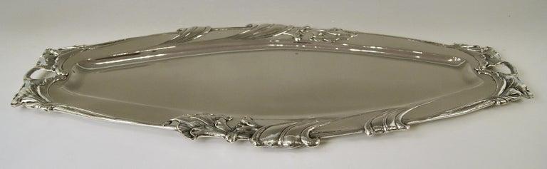 Early 20th Century Silver Austrian Art Nouveau Serving Platter Length Viennna, circa 1900 For Sale
