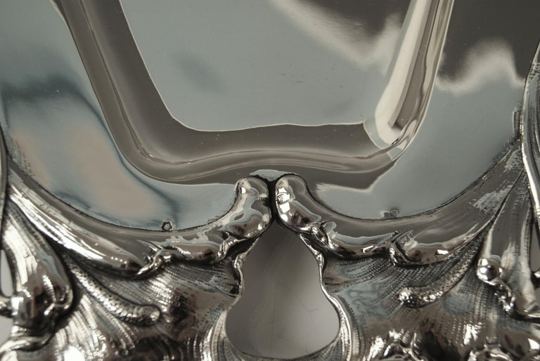 Silver Austrian Art Nouveau Serving Platter Length Viennna, circa 1900 For Sale 2
