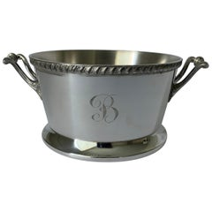 Silver B Monogram Planter or Bucket