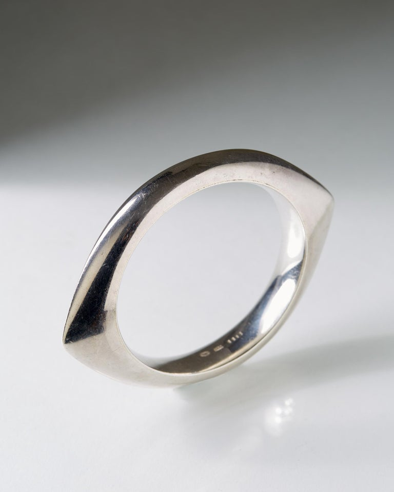 Modern Silver Bangle Designed by Nanna Ditzel for Georg Jensen, Denmark, 1956 For Sale
