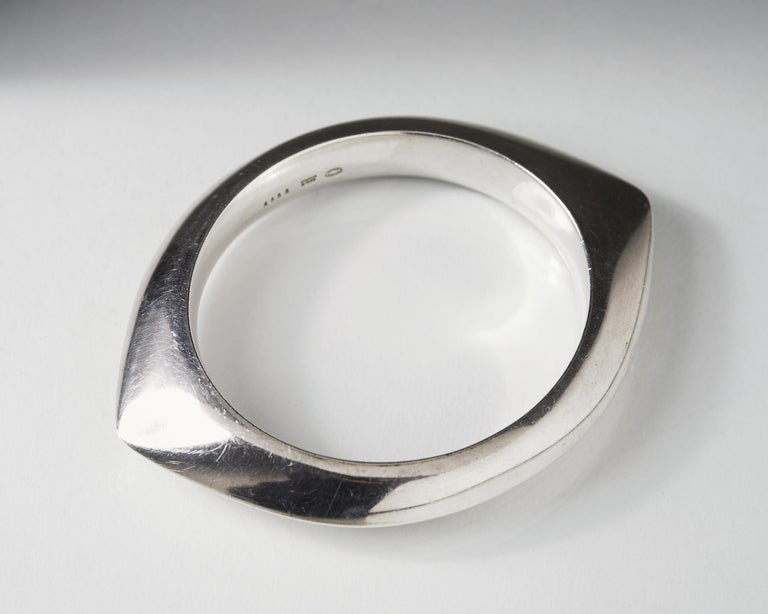 Silver Bangle Designed by Nanna Ditzel for Georg Jensen, Denmark, 1956 In Good Condition For Sale In Stockholm, GB