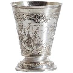Silver Beaker, Emanuel Drentwett, Augsburg 18th Century
