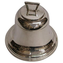 Silver Bell Shaped Inkstand Dated 1921, Birmingham, A & J Zimmerman