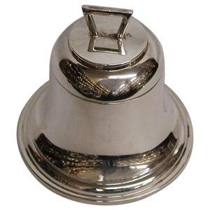 Silver Bell Shaped Inkstand Dated 1921, Birmingham, A & J Zimmerman