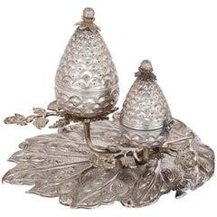 Silver Besamim Spice Box for Havdalah