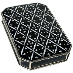 Silver Black Enameled Box by Leo Wagner, 1921-1922