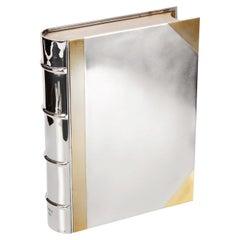 Silver Book-Shaped Cigar Box