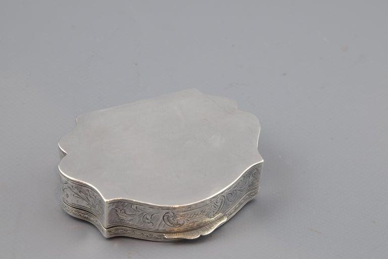 European Silver Box, 19th-20th Centuries For Sale