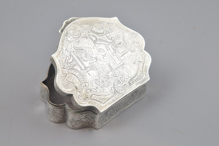 Silver Box, 19th-20th Centuries In Good Condition For Sale In Madrid, ES
