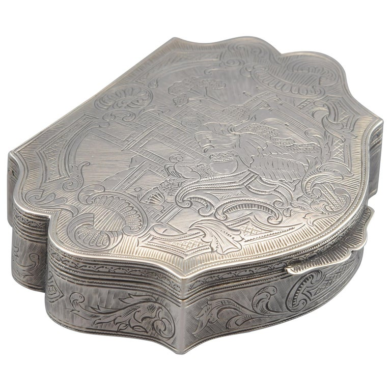 Silver Box, 19th-20th Centuries For Sale