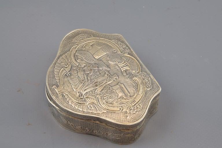 Neoclassical Silver Box, 19th-20th Century For Sale