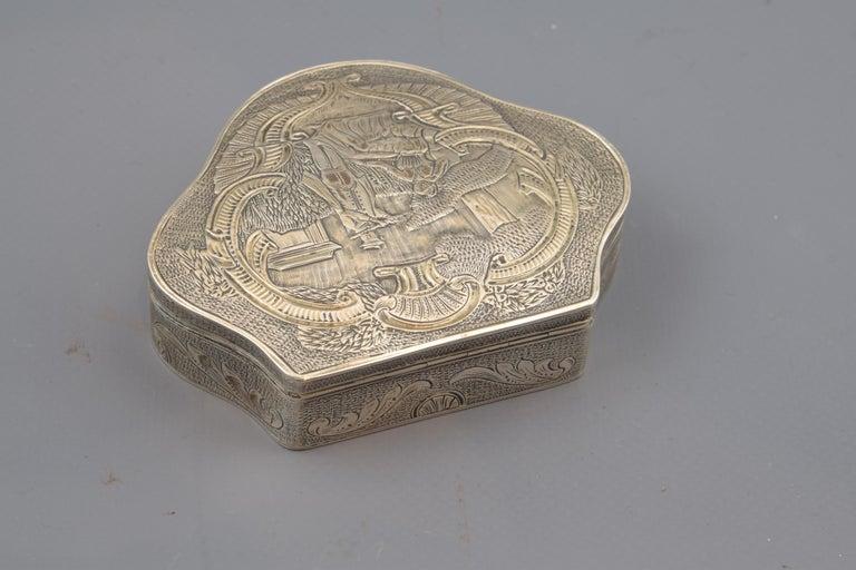 European Silver Box, 19th-20th Century For Sale
