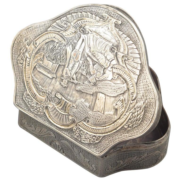 Silver Box, 19th-20th Century For Sale