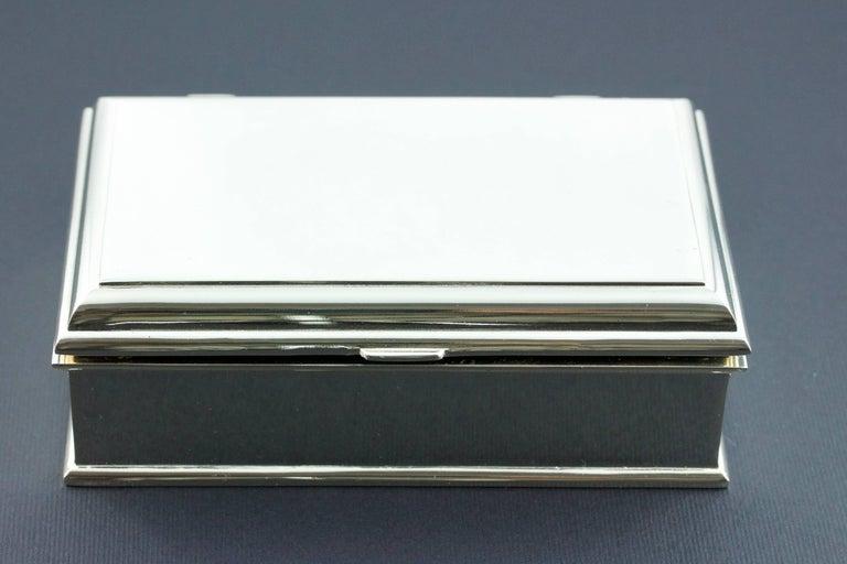 White Diamond Lapis Lazuli Onyx Silver Box Cufflinks  For Sale 2