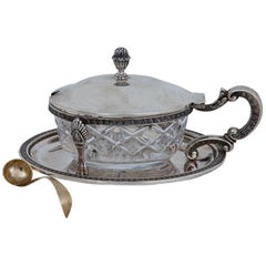 Silver Box with Spoon, 19th Century