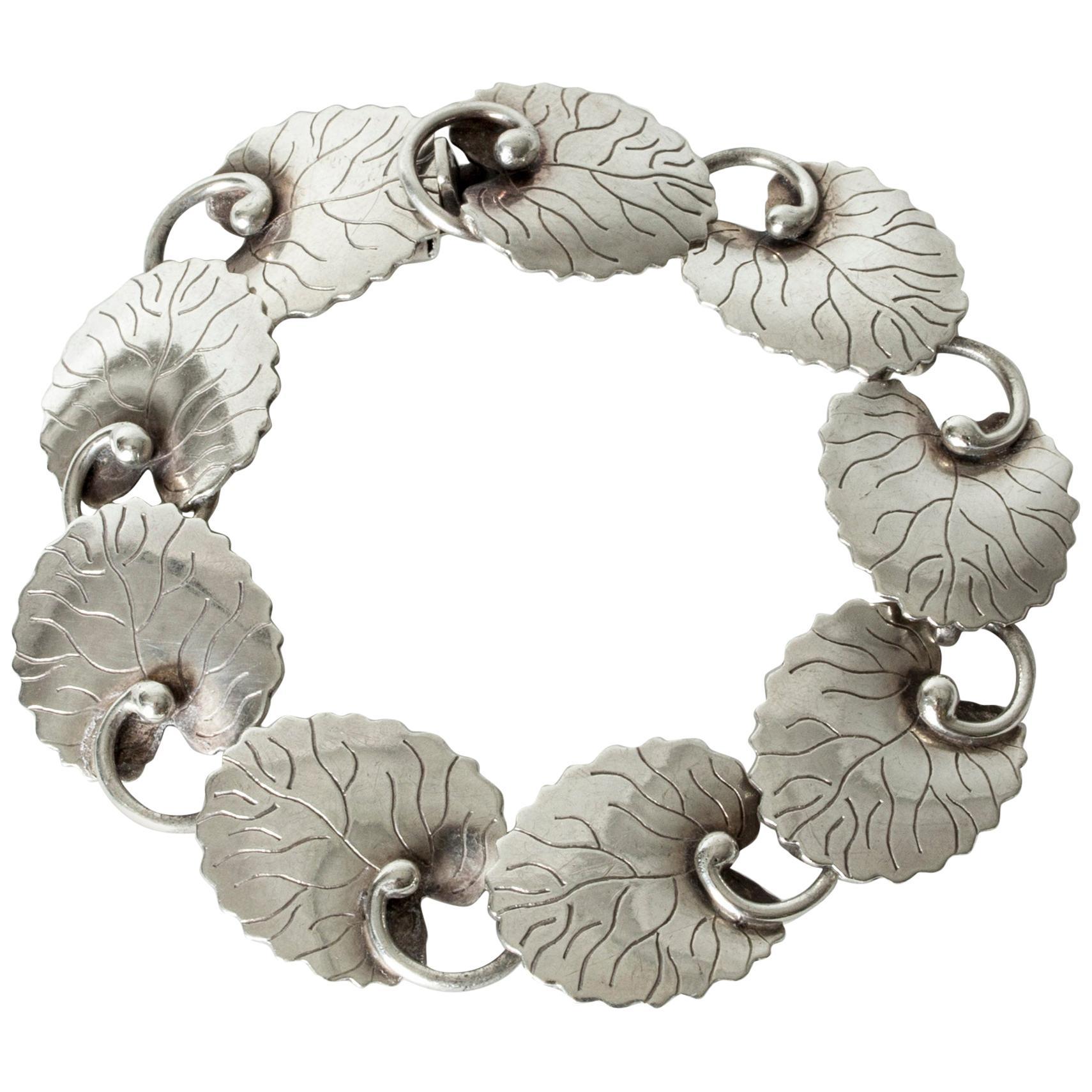 Silver Bracelet by Arvo Saarela, Sweden, 1954