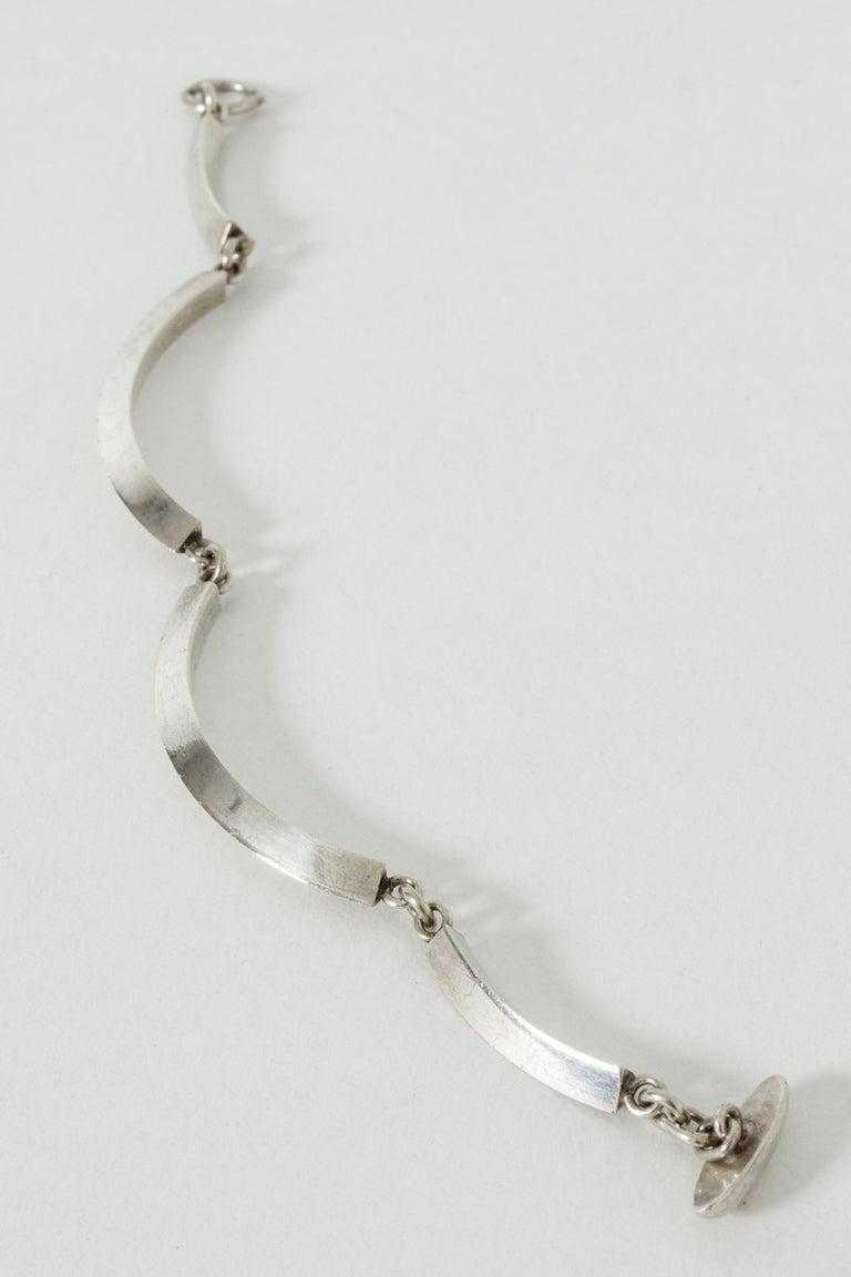 Silver Bracelet by Arvo Saarela, Sweden, 1963 In Good Condition For Sale In Stockholm, SE
