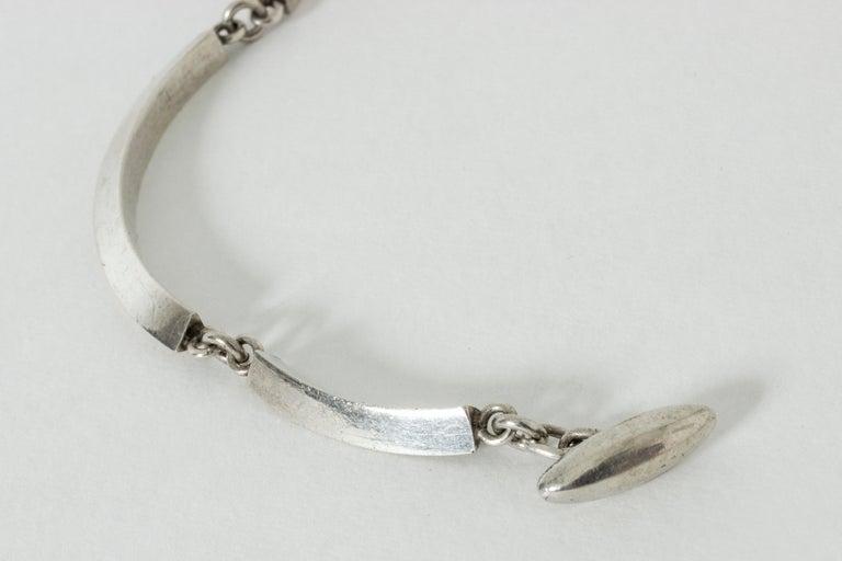 Women's or Men's Silver Bracelet by Arvo Saarela, Sweden, 1963 For Sale