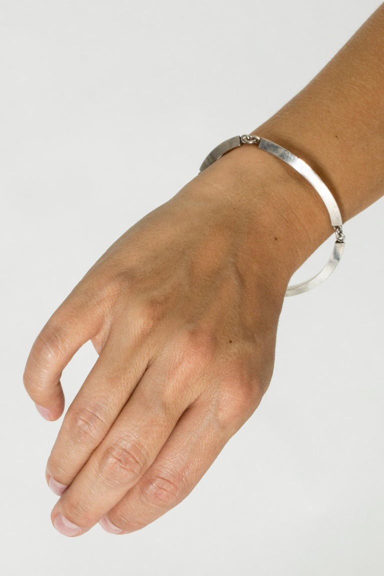 Silver Bracelet by Arvo Saarela, Sweden, 1963 For Sale 2