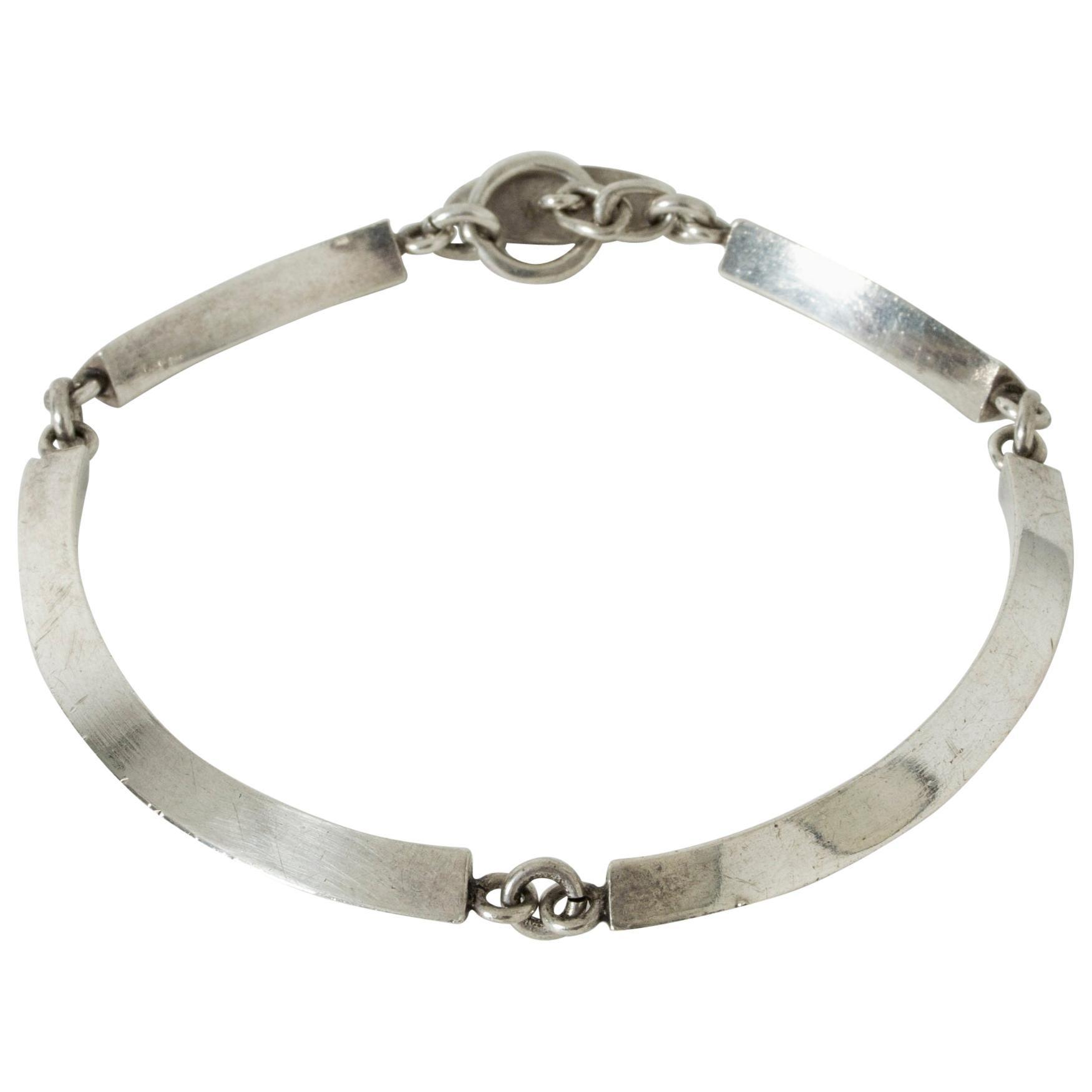 Silver Bracelet by Arvo Saarela, Sweden, 1963