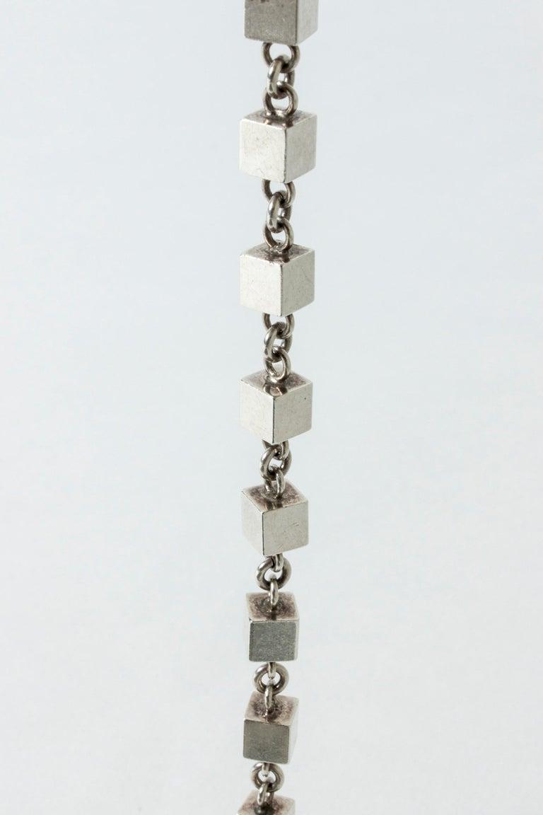 Modern Silver Bracelet by Arvo Saarela, Sweden, 1964 For Sale
