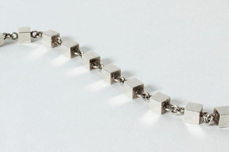 Silver Bracelet by Arvo Saarela, Sweden, 1964 In Good Condition For Sale In Stockholm, SE
