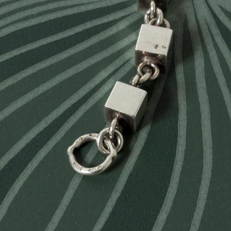 Women's or Men's Silver Bracelet by Arvo Saarela, Sweden, 1964 For Sale