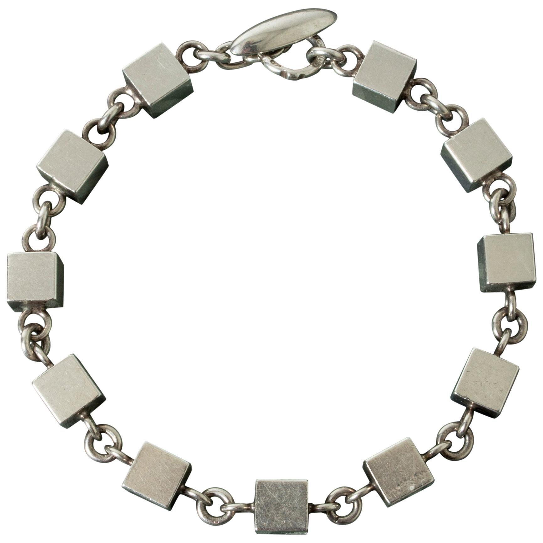 Silver Bracelet by Arvo Saarela, Sweden, 1964
