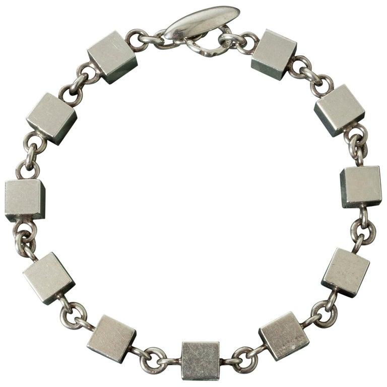 Silver Bracelet by Arvo Saarela, Sweden, 1964 For Sale