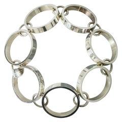 Silver Bracelet by Bent Gabrielsen Pedersen for Hans Hansen, Denmark, 1960s