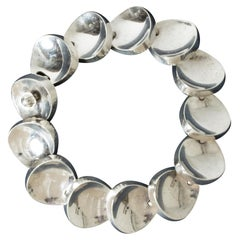 Silver Bracelet by Bent Knudsen, Denmark, 1950s