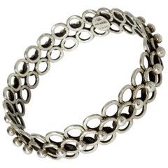 Silver Bracelet by Hermann Ole Jacobsen, Denmark, 1950s