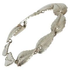 Silver Bracelet from Atelier Borgila, Sweden, 1950s