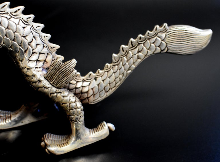 Silver Bronze Dragon For Sale 3