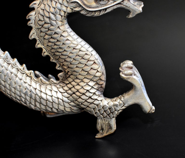 Silver Bronze Dragon For Sale 5