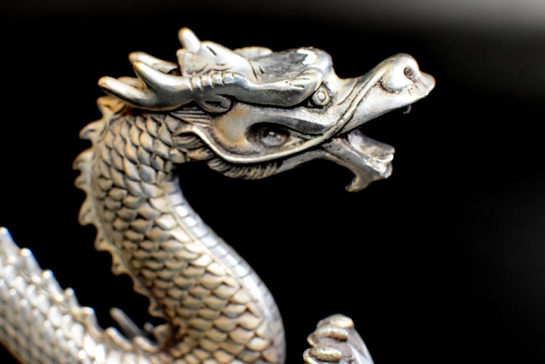 Silver Bronze Dragon For Sale 8
